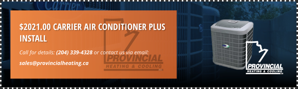 2021 Carrier air conditioner plus install coupon